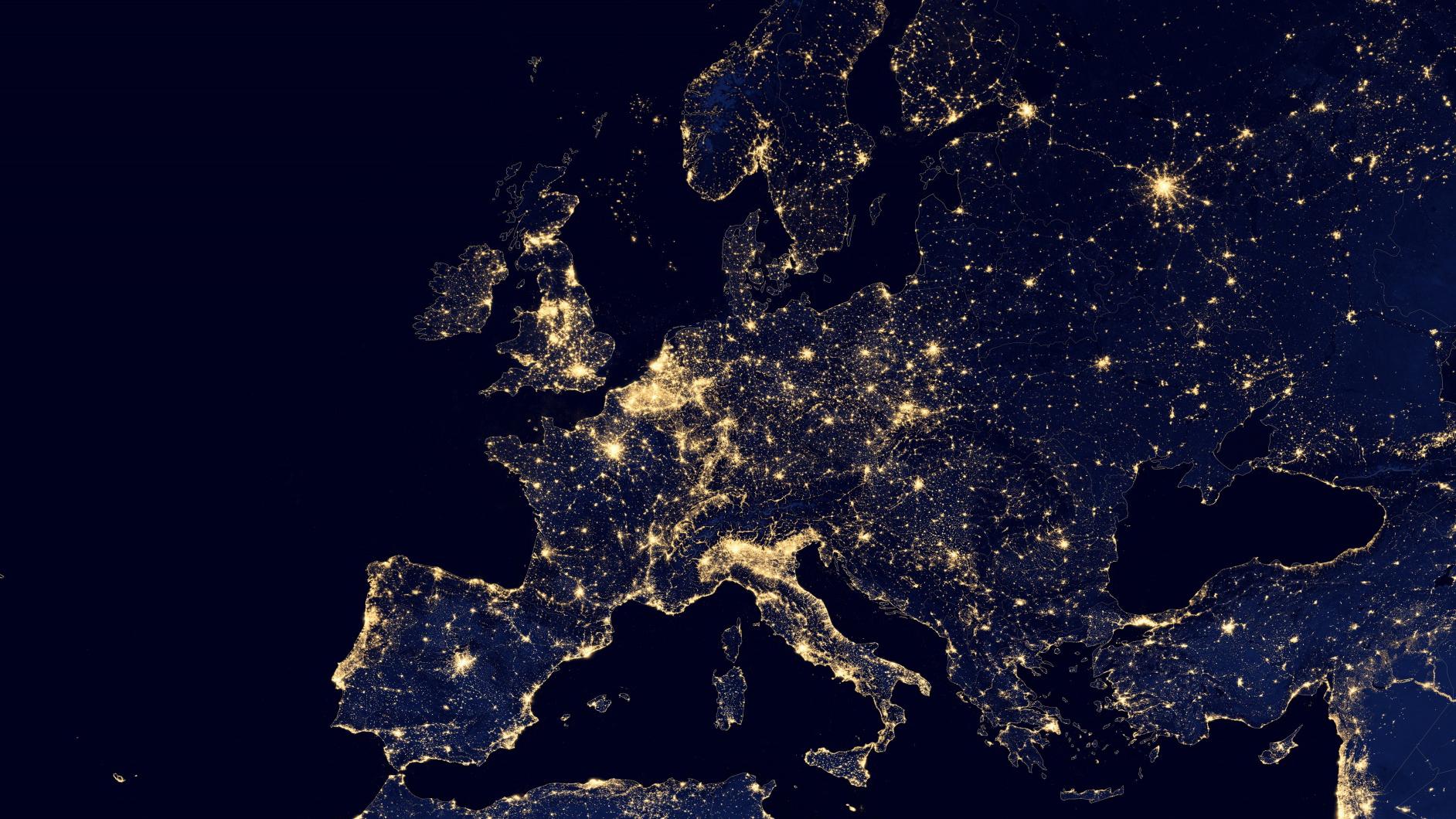 Europa in der Nacht